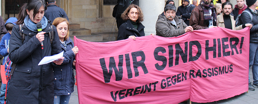 "Gedenkkundgebung: ""Vereint gegen Rassismus!"""