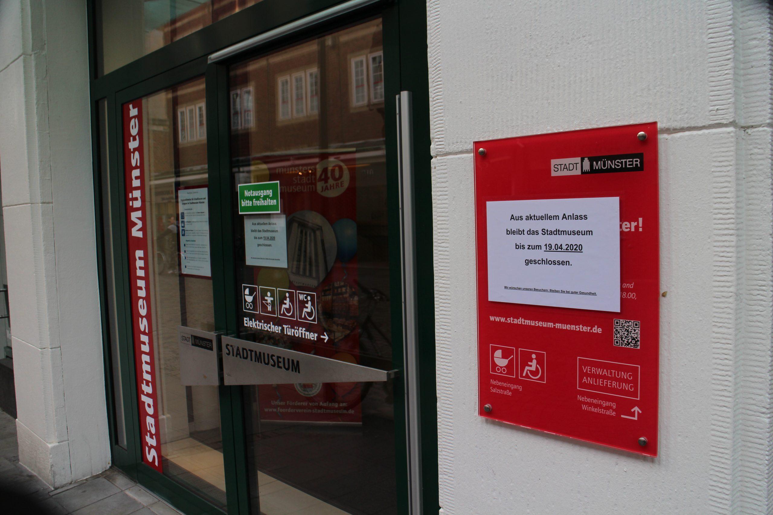 Auch das Stadtmuseum hat geschlossen.