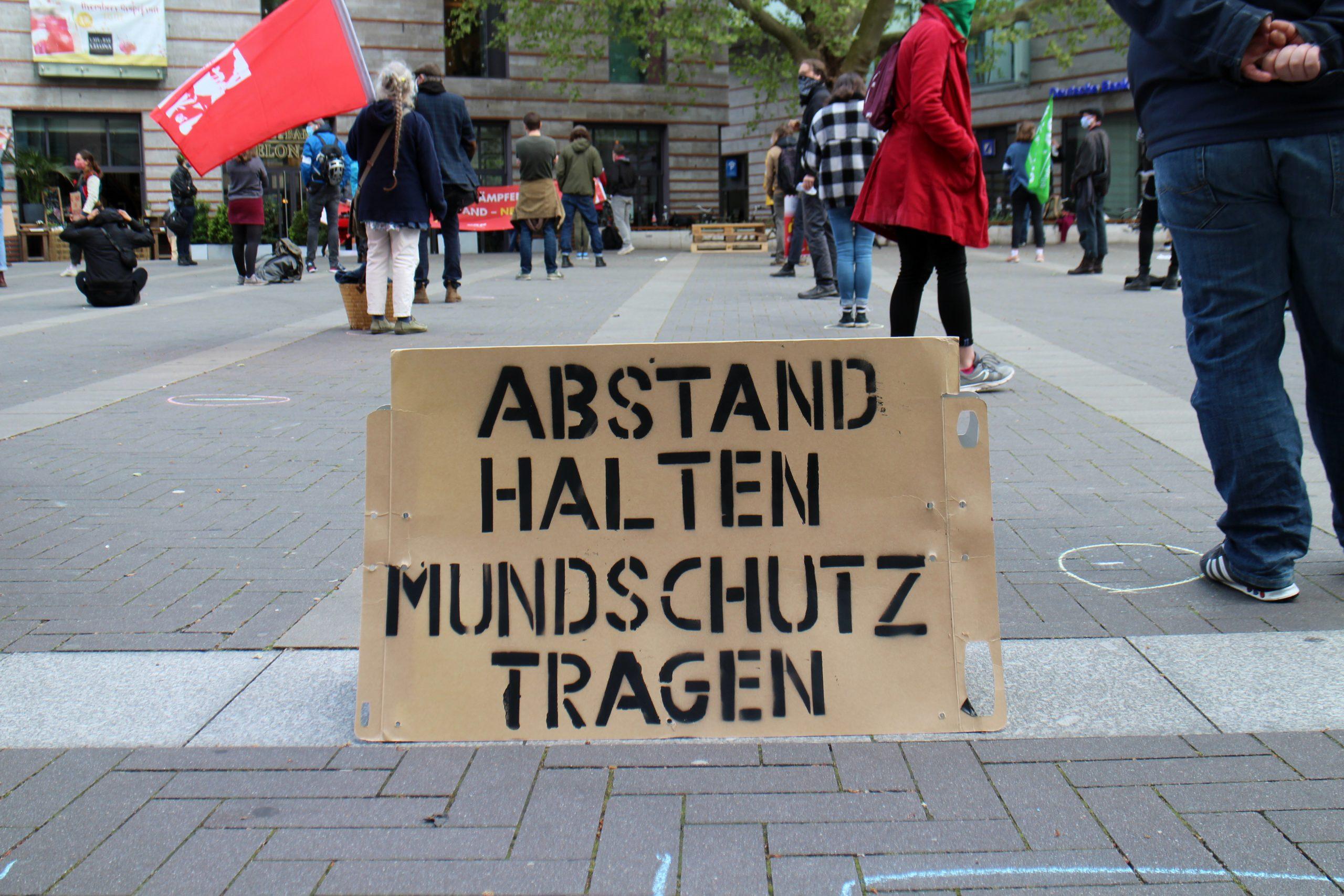"""1. Mai in der Stubengasse: """"Trotz alledem – Solidarisch ist man nicht alleine"""""""