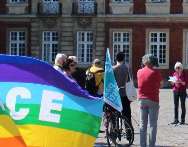 """""""PACE"""" - Eine der Fahnen der Friedensbewegung"""