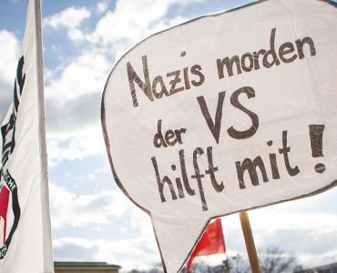 Demonstration am 13. April in München zum NSU-Prozess (Bild: LINKE-Fraktion im Bundestag)