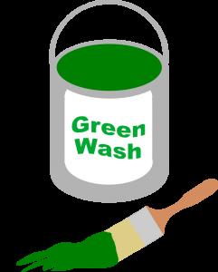 Greenwashing: einem Unternehmen durch Marketing ein umweltfreundliches Image ohne Grundlage geben