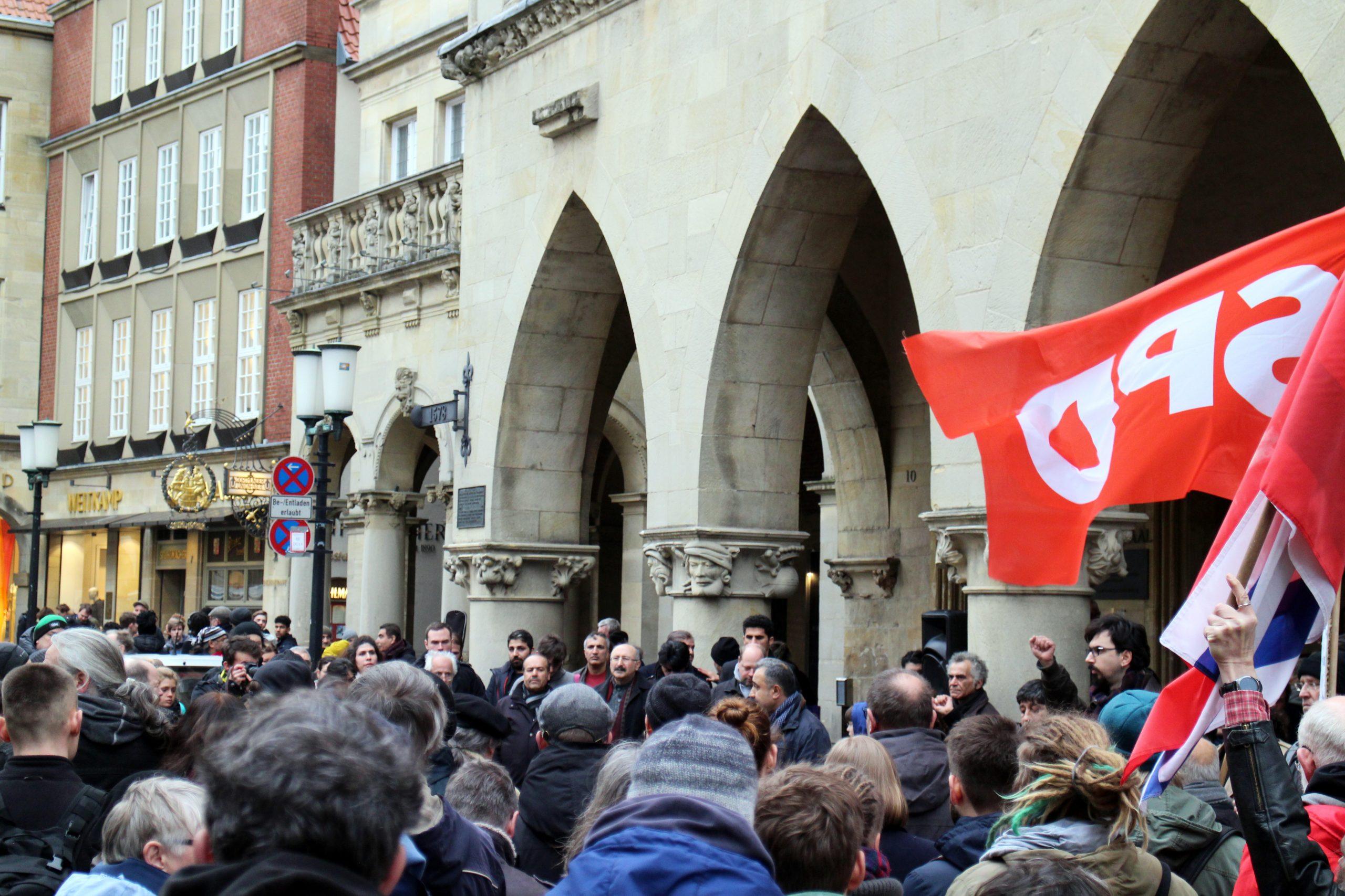 Auch die SPD war vor Ort.