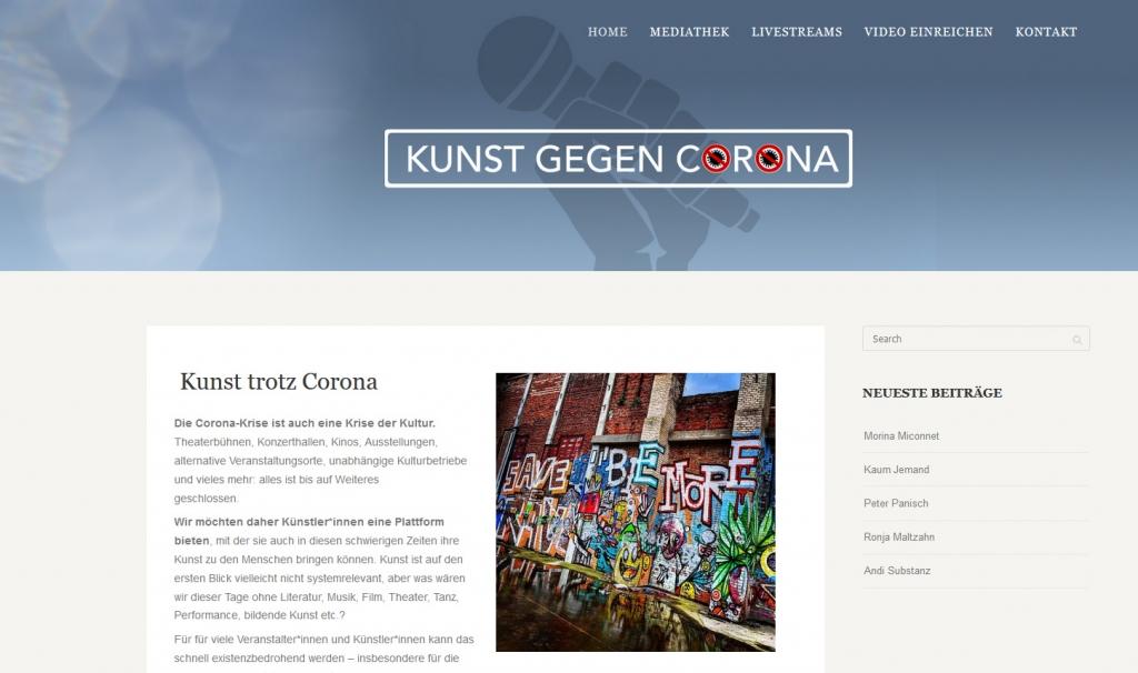 Kunst gegen Corona
